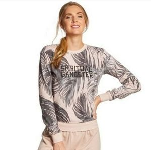 Spiritual Gangster Palm Tree Leaf Sweatshirt